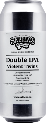 салденс дабл ипа вайолент твинс / salden's double ipa violent twins ж/б (0,5 л.)